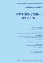 Philosophique ; Wittgenstein, exprience(s) (dition 2010)