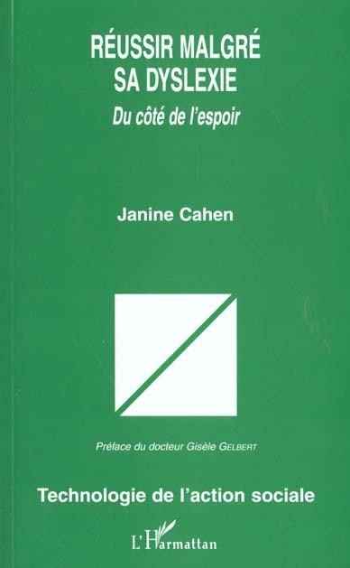 Janine Cahen Reussir malgre sa dislexie