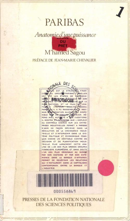 Sagou M'Hamed Paribas