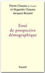 Jacques Renard Essai de prospective démographique