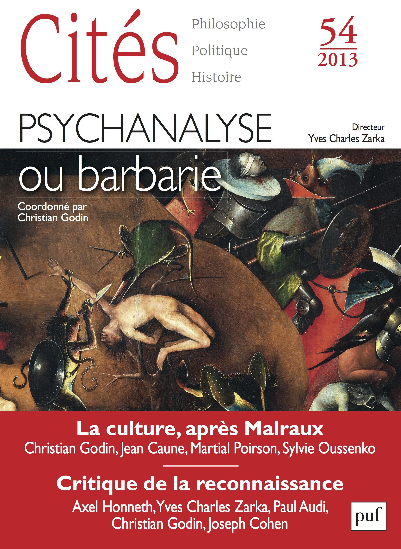 Revue Cites Psychanalyse : une mauvaise passe ?