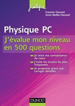 Physique PC J'value mon niveau en 500 questions
