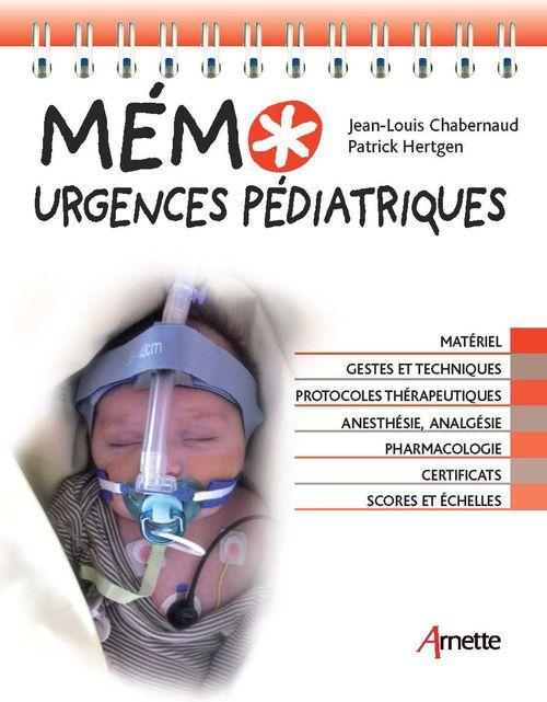 Jean-Louis Chabernaud Mémo Urgences pédiatriques