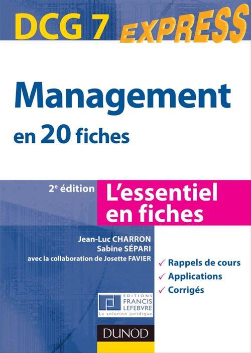 Sabine Sépari Management DCG 7 - 2e édition