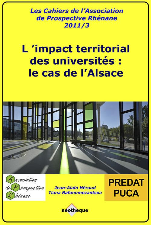 Collectif L'impact territorial des universités : le cas de l'Alsace