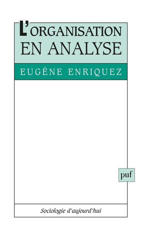 Eugène Enriquez L'organisation en analyse