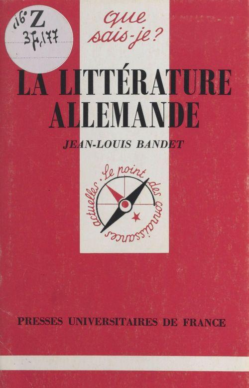 La littérature allemande