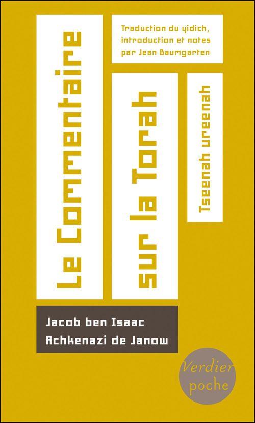 Jacob Ben Isaac Achkenazi de Janow Le Commentaire sur la Torah