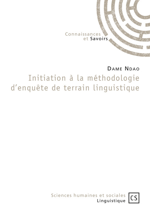 Dame Ndao Initiation à la méthodologie d'enquête de terrain linguistique