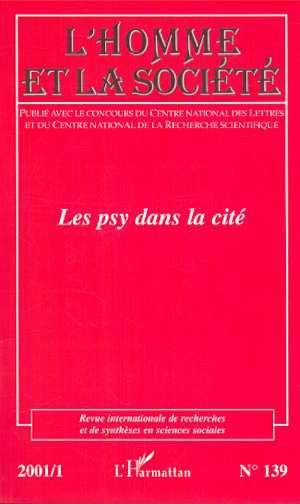 Revue Internationale De Recherches Et De Syntheses En Sciences Sociales Les psys dans la cité