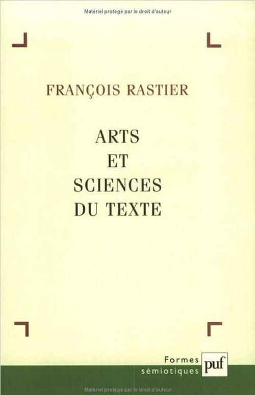 Arts et sciences du texte