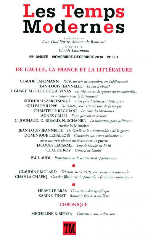 Les Temps Modernes n° 661 (Novembre - décembre 2010)