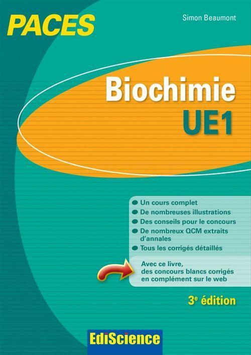Biochimie-UE1 PACES - 3e éd.