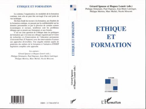 Gérard Ignasse Éthique et Formation