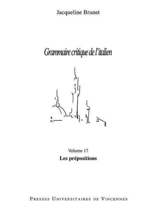 Grammaire critique de l'italien - Les prépositions