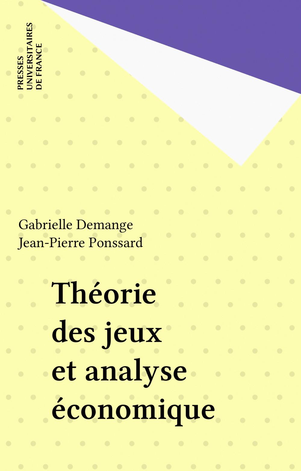 Théorie des jeux et analyse économique