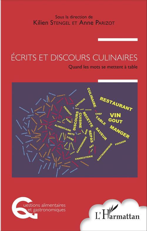 Anne Parizot Écrits et discours culinaires