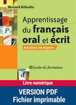 Apprentissage du fran�ais oral et �crit