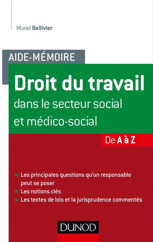 Muriel Bellivier Aide-mémoire - Droit du travail dans le secteur social et médico-social