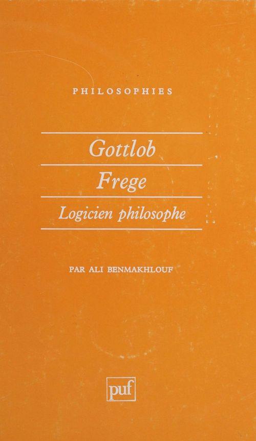 Ali Benmakhlouf Gottlob Frege