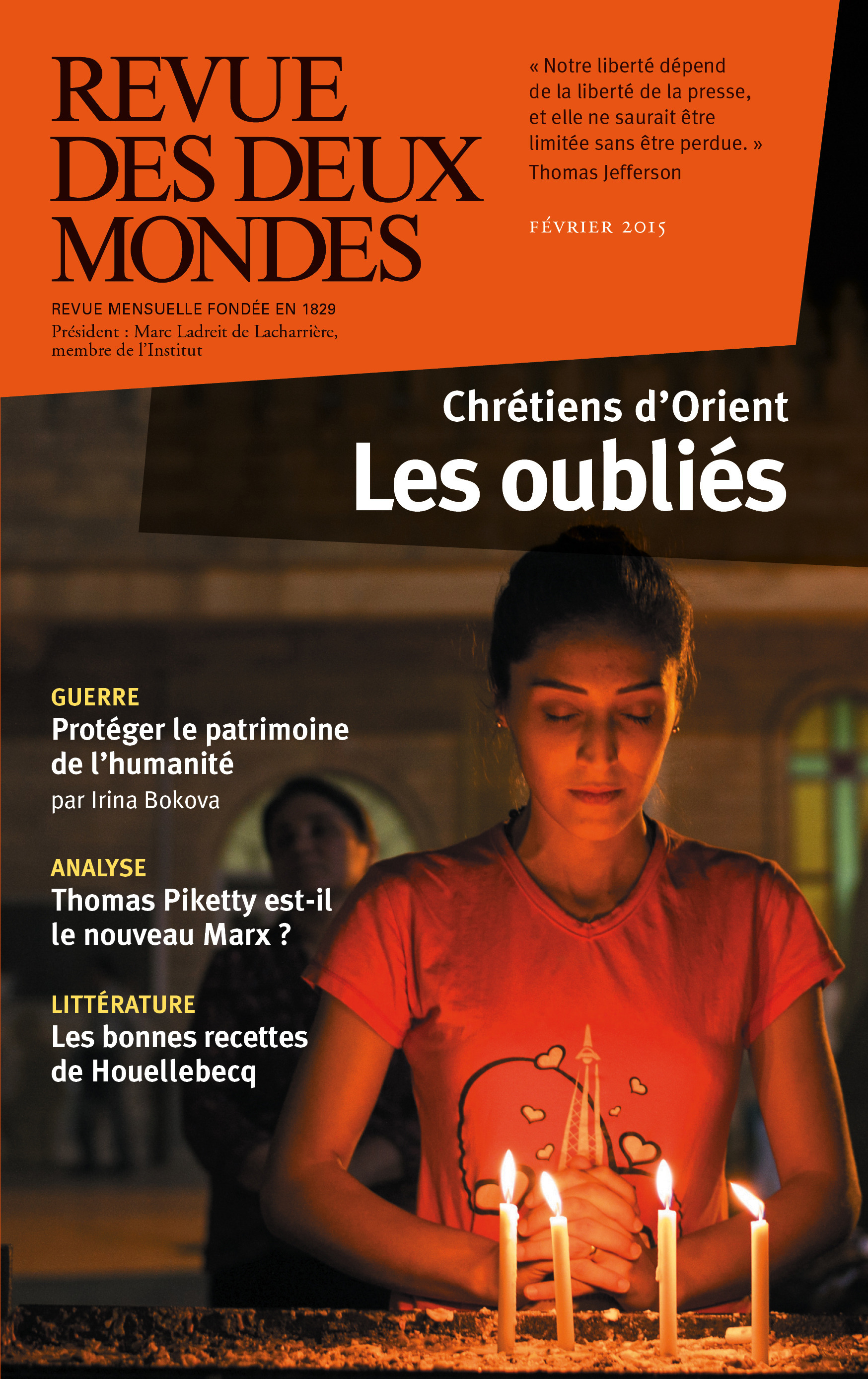 Frédéric Verger Revue des Deux Mondes février 2015