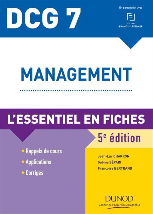 Sabine Sépari DCG 7 - Management - 5e ed