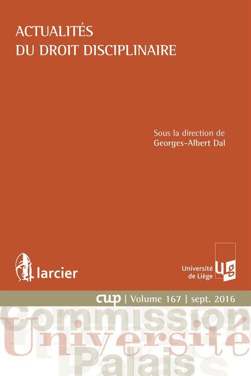 Georges-Albert Dal Actualités du droit disciplinaire