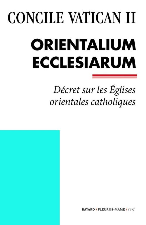 Concile Vatican II Orientalium Ecclesiarum