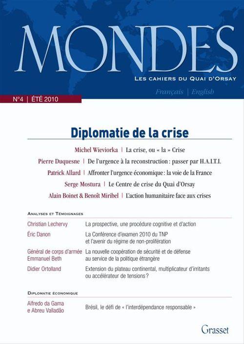 Mondes nº4 - Les cahiers du Quai d'Orsay