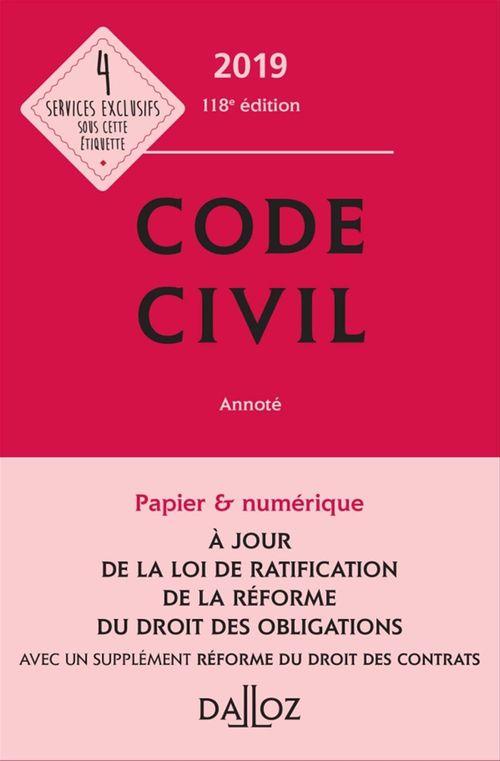 Xavier Henry Code civil 2019, annoté