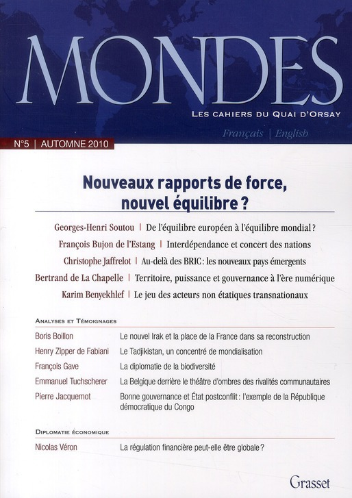 Mondes nº5 - Les cahiers du Quai d'Orsay