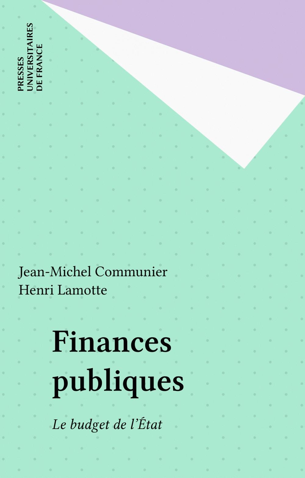 Jean-Michel Communier Finances publiques