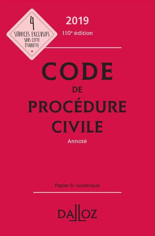 Laurent Dargent Code de procédure civile 2019, annoté