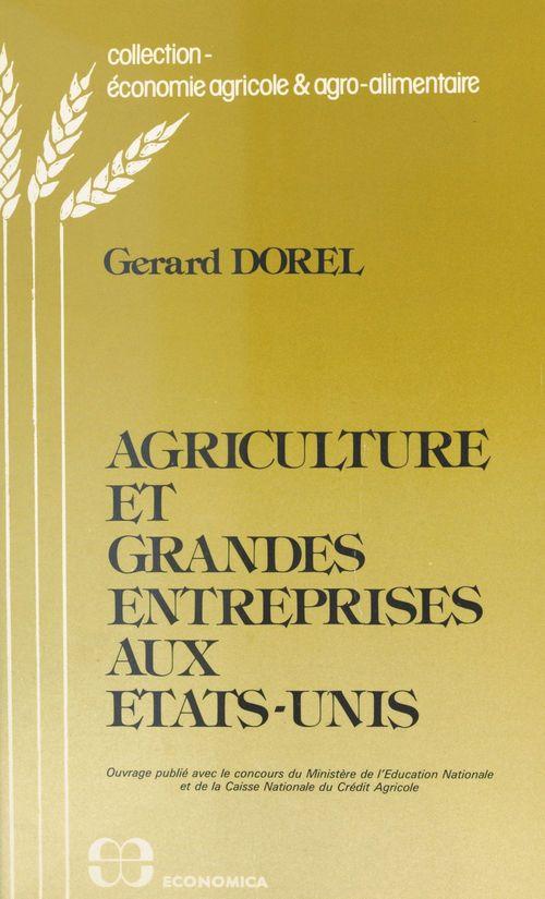 Agriculture et grandes entreprises aux États-Unis