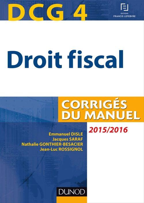 Emmanuel Disle DCG 4 - Droit fiscal 2015/2016 - 9e éd