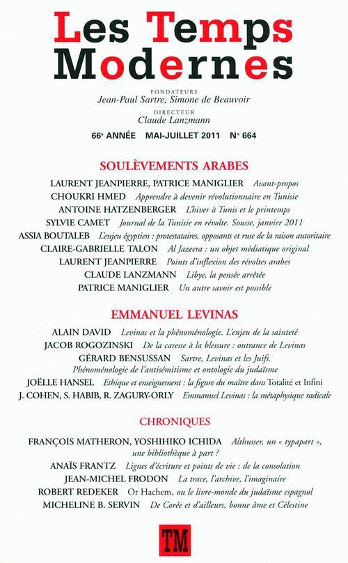 Les Temps Modernes n° 664 (Mai - juillet 2011)