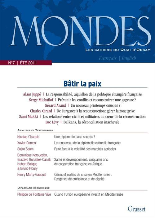 Mondes nº7 - Les cahiers du Quai d'Orsay