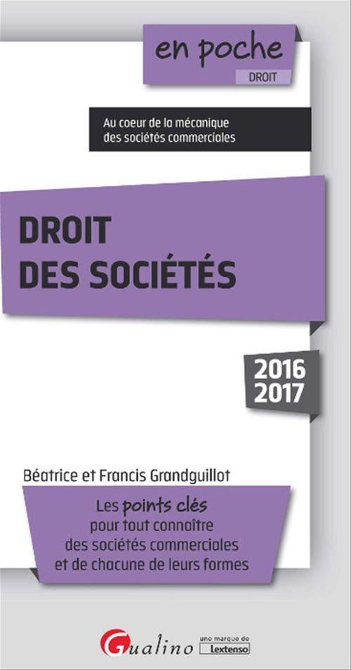 En poche - Droit des sociétés 2016-2017 - 8e édition