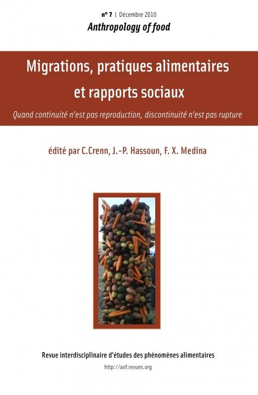 Virginie Amilien 7 | 2010 - Migrations, pratiques alimentaires et rapports sociaux - AOF
