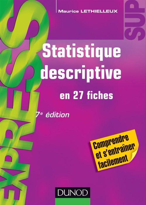 Maurice Lethielleux Statistique descriptive - 7ème édition