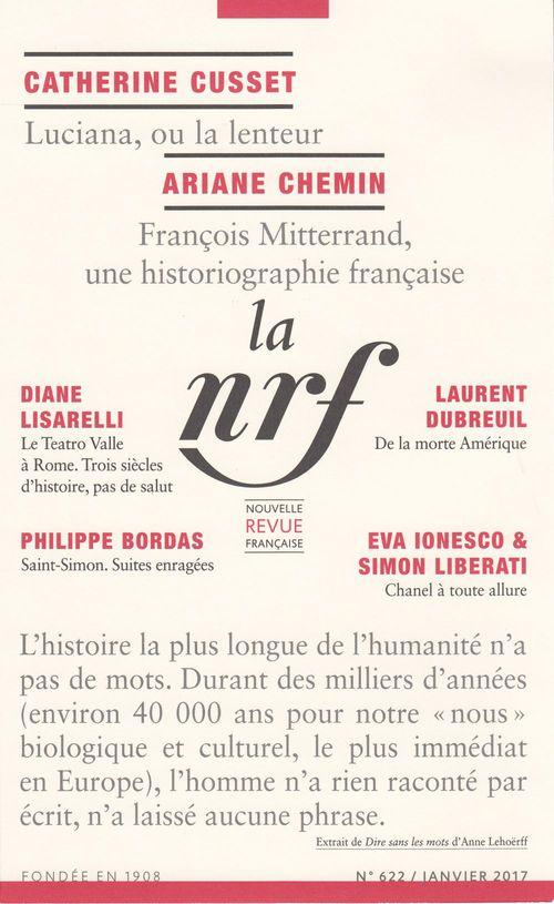 La Nouvelle Revue Française N° 622 (Janvier 2017)