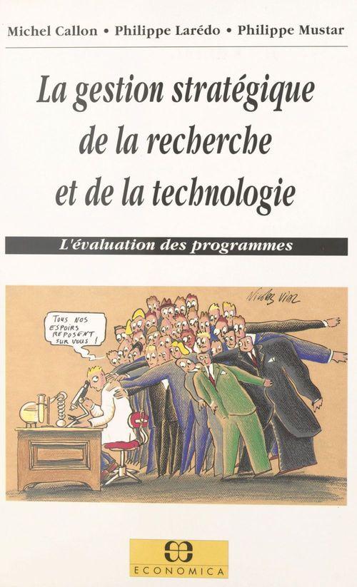 La Gestion Strategique De La Recherche Et De La Technologie