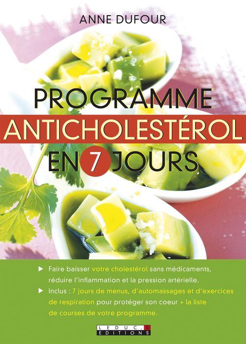 Anne Dufour Programme anticholestérol en 7 jours