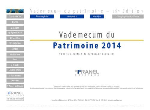 Vademecum du Patrimoine 2014 - 19e édition - Mise à jour juillet 2014