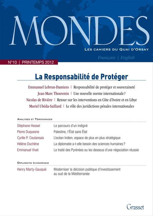 Mondes nº10 - Les cahiers du Quai d'Orsay