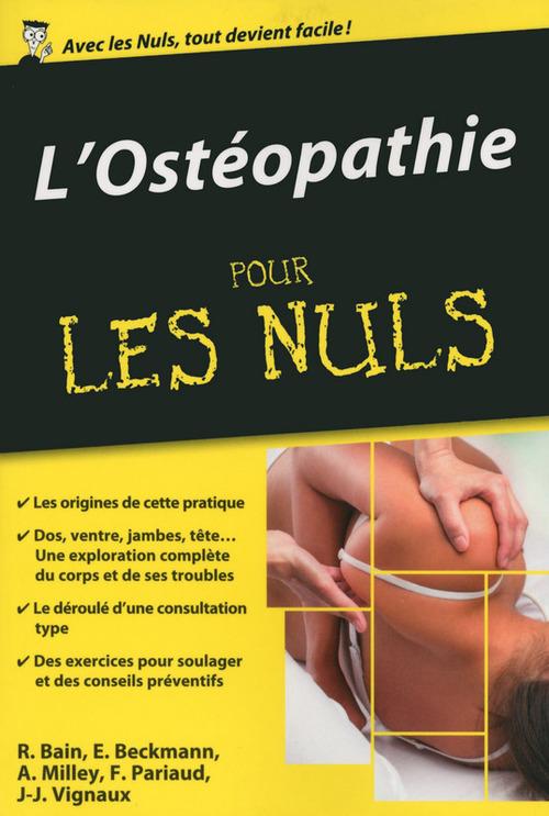 Renan BAIN L'Ostéopathie pour les Nuls, édition poche