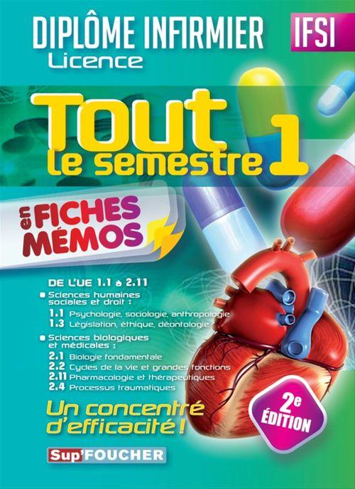 Collectif Tout le semestre 1 en fiches mémos - DEI - 2e édition