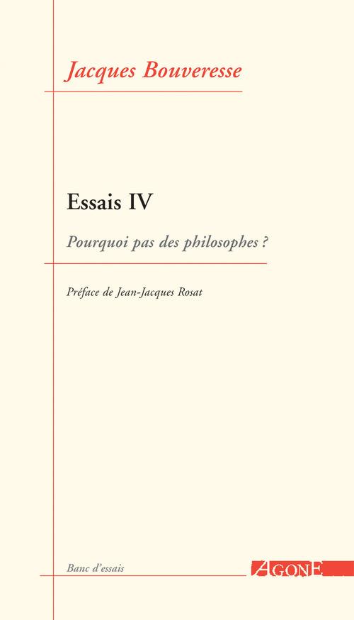 Jacques Bouveresse Essais IV