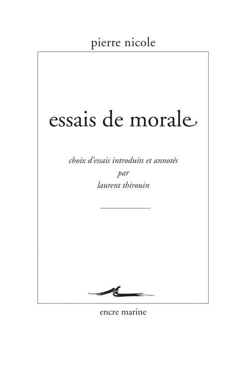 Essais de morale