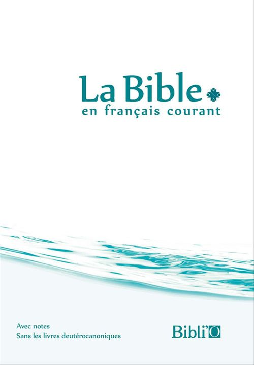 Biblio Bible Francais Courant Rigide Blanc Bleu